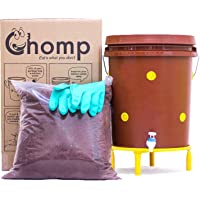 Daily Dump Chomp Single - Indoor Smart Compost Bin for Converting All Kinds of Kitchen Food Waste into Manure