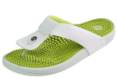 Kenkoh, le flip flop de massage de réflexologie japonaise pour femmes, crème verte, Taille EU 37: : Chaussures et Sacs