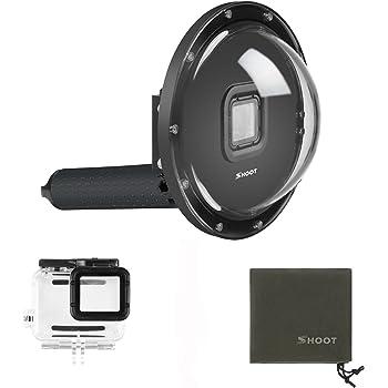 SHOOT Dome 6 Zoll Tauchen Unterwasser Transparente DomePort mit Handgriff un Gehäuse für GoPro Hero 7 Black/Hero(2018)/HERO6/HERO5 Black Kamera