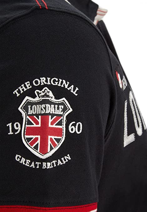 0f48ea9d7c Lonsdale Mens Polo Shirt Sellindge: Amazon.co.uk: Clothing