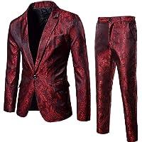 WHSHINE Mode Men Suit Blazer Anzug Manner Slim Fit Business Wedding Party Suits 3-Piece Suit Jacket Suit Vest, One Blazer Set Tuxedo Jacket Vest & Pants