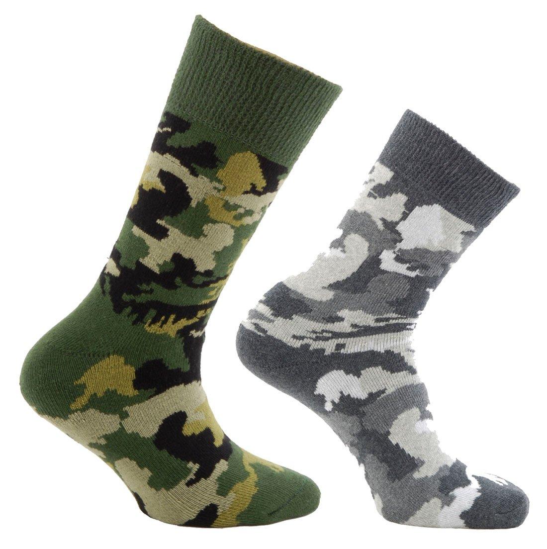 Horizon Jungen Socken, 2 Paar Camo Army/Arctic Size 12½-3