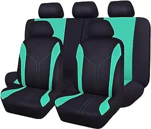 Flying Banner Autositzbezüge Komplett Universell Mintgrün Polyester Netzgewebe Gepolstert Atmungsaktiv Für Auto Lkw Van Suv Auto