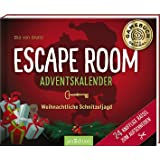 Escape Room Adventskalender. Weihnachtliche Schnitzeljagd. 24 knifflige Rätsel zum Aufschneiden: Ein Escape-Abenteuer im Schn