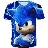 AMCYT Camiseta Sonic The Hedgehog para niños, unisex, diseño 3D con dibujos animados