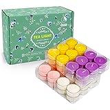 YMing Tealight, Lumini Cera, Candele Profumate, 48 Pack, fichi mediterranei, Limone, Primavera, Lavanda, Confezione, Set Rega