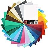 25 x DIN A4 vellen plotterfolie 621/631 zelfklevende folie in set vinyl voor plotten DIY knutselfolie sticker belettering sti