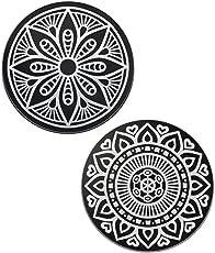 VAVA Metallplättchen Set für Magnet Halterhalter fürs Auto KFZ Handyhalterung Auto 2 Kreisen Metallscheibe Weite Kompatibilität Rostfreies Eisenmaterial feste Klebkraft