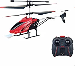 Srmaji Store Velocity Digital Proportional Coaxial Control Helicopter with Remote Controller, Unbreakable Blades and Infrared Sensor for Kids