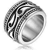 OIDEA Anello Celtico Irlandese Fidanzamento Matrimonio Nuziale Acciaio Inossidabile Uomo Argento Regalo Perfetto Misura da Sc