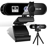 Webcam per PC con Microfono,1080P Full HD Videocamera per PC/Desktop/Laptop/TV 2.0 USB, Plug and Play per Lezioni,Lavoro…