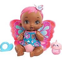 My Garden Baby poupon bébé papillon boit et fait pipi 30 cm corail avec couche, vêtements et ailes amovibles, poupée…
