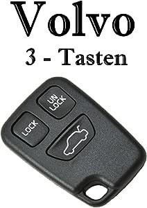 1x Ersatzschlüssel Autoschlüssel Hülle Für 3 Tasten Funk Fernbedienung Volvo Ks03 Top Qualität Auto Schlüssel Gehäuse Neu Auto