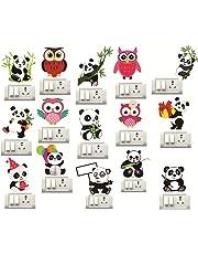 Sticker Studio Panda OWL Switch Board Sticker (Set of 15)