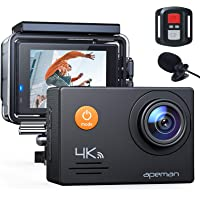 APEMAN Action Cam A79,4K WiFi 20MP Unterwasserkamera Digitale wasserdichte 40M Helmkamera (2.4G Fernbedienung und Webcam…