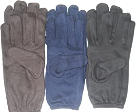 Aadishwar Creations Half Hand Gloves For Protection From Sun Burn/Heat/Pollution-set of 3