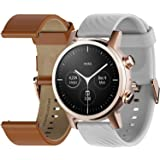 Motorola Moto 360 3rd Gen Smartwatch - Stainless Steel Case With 20mm Bands, All-day Battery, & WearOs Rose gold