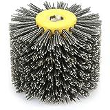 Burnishing Polishing Wheel Wire Drawing Wheel Brush Burnishing Polishing Wheel Grit #120 for Carpentry Furniture