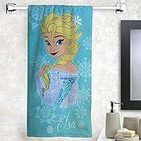 Athom Trendz Disney Frozen 350 GSM Cotton Bath Towel - Multicolour
