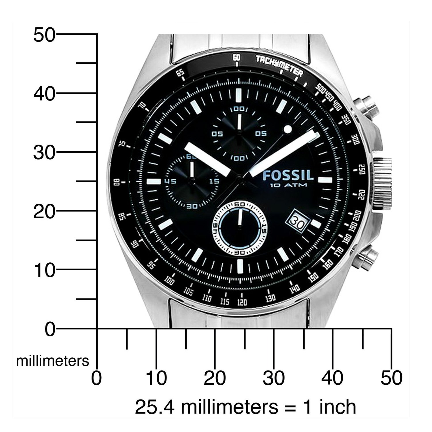 Mens Watches Fossil Stainless Steel Chronograph Ch2600 Function