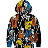 Neemanndy Kids Hoodie 3D Graphic Sweater with Pocket for Boys Girls 6-15 Years