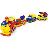 TANMAN TOYS Battery Operated Magnetic Play Train Set Without Track New Concept for Kids Boys and Girls, Multi Color