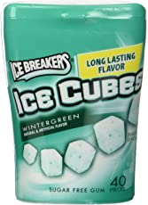 Ice Breakers Ice Cubes Cool Wintergreen Gum, 40 cubes