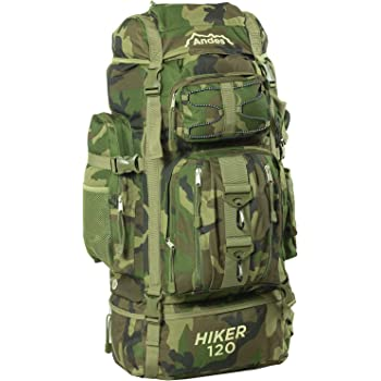 foolsGold Extra Large Hiking Travel Backpack Camping Rucksack Top ... 5d14582ab084b