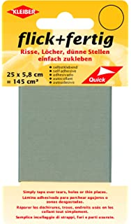 Grau Flick Fertig 3 St/ück Kleiber je 145 Quadratzentimeter Klebe-Flicken Selbstklebendes Reparaturband aus Nylon