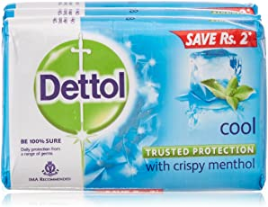 Dettol Soap, Cool, 3x75g (Rs 2 Off)