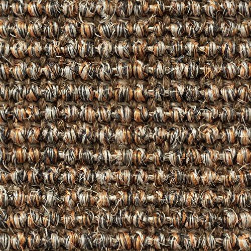 Teppichboden Auslegware | Sisal Naturfaser Schlinge | 400 cm Breite | grau braun | Meterware, verschiedene Größen | Größe: 1 Muster