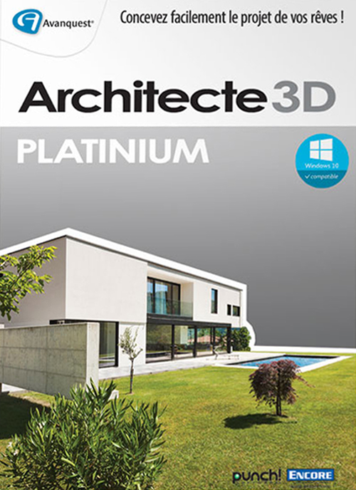Architecte 3d platinium 2016 v18 version fran aise for 3d architecte pro