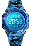 Orologio digitale per bambini, orologi sportivi impermeabile con sveglia/cronometro/12-24H, elettronico orologio da…