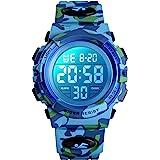 Orologio digitale per bambini, orologi sportivi impermeabile con sveglia/cronometro/12-24H, elettronico orologio da polso per