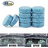 Kindax 40pcs Pastiglie Lavavetri Effervescenti, Detergente per Pulizia Vetri Auto, 1 Pastiglia= 4L Liquido per…