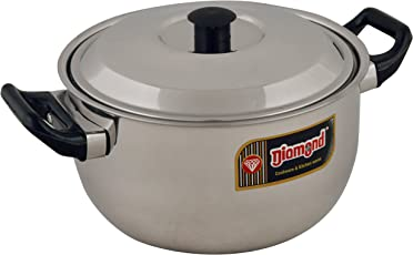 Diamond Stainless Steel Outer Lid Induction Base Milk Boiler, 1-Piece, 1.5 Liters, Silver