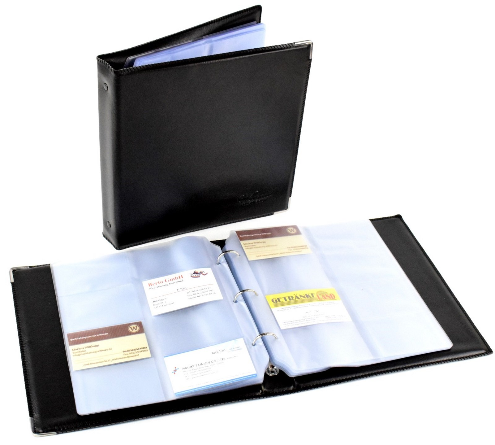 Faux Leather Business Business Card Folder Organiser for 480 Cards ...