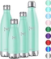HOMPO Bottiglia Acqua in Acciaio Inox - Borraccia Termica 350ml/ 500ml/ 750ml/ 1L Isolamento Sottovuoto a Doppia...