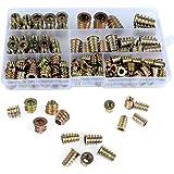 QLOUNI 130 stuks inschroefmoffen indraaimof met afdekrand zinklegering schroefdraadinzetstuk moeren assortiment M4 M5 M6 M8 M