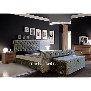 Premier Housewares Chesterfield Bed Schlitten Gecrushter Samt Mit