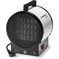 TROTEC Keramik-Heizlüfter TDS 20 M Elektroheizer Bauheizer 3 kW, 2 Heizstufen, Überhitzungsschutz