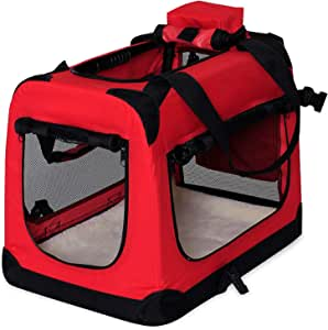 dibea TB10031/Dog Transport Box Dog//Folding Car Box for Small Animals Size and Colour Blue