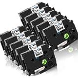 Nastro Cassette Etichette Fimax Compatibile In sostituzione di Brother P-touch TZe-231 12mm 0.47 Nero su Bianco Laminato…