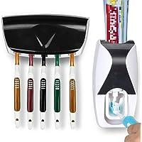 OMZGXGOD Distributeur Dentifrice,Distributeur de Dentifrice Automatique et Brosse à Dents Porte-Set avec Montage Mura