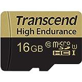 Transcend Carte Mémoire microSDXC 16 Go Haute Endurance TS16GUSDHC10V