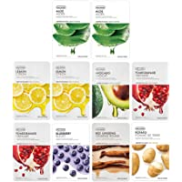 The Face Shop Real Nature Daily Glow Mask Sheet, 200 g (Unisex) - Combo Pack of 10