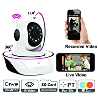 Wireless HD IP WiFi CCTV [Watch Online Demo Right Now] Indoor Security Camera (Support Upto 128 GB SD Card) Model:D8810 Pattern#145945