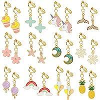 Hifot 12 Paare Clip Ohrringe Mädchen Prinzessin Kinder Ohrclips Set, Prinzessin Kleid Geburtstag Geschenk Party Favors…