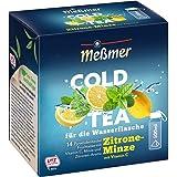 Meßmer Cold Tea Zitrone-Minze | Belebe dein Wasser mit dem spritzigen Geschmack | ohne Zucker | ohne Kalorien | Alternative z