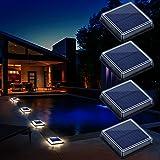 Lampe Solaire au Sol, Lumière Solaire Jardin IP68 étanche éclairage Solaire avec Auto On/Off Lampe de Sécurité pour Jardin, E